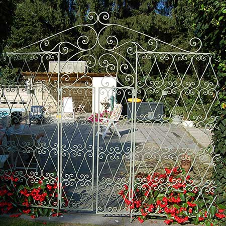 rustic handcrafted iron fences